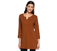 Liz Claiborne New York Petite Essentials 3/4 Sleeve Tunic - A257736
