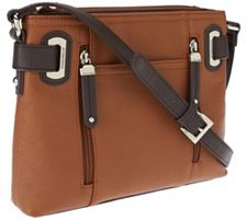 Tignanello Perfect Pockets Pebble Leather Large Crossbody