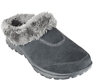 As Is Skechers GOwalk Suede Clogs w/ Faux Fur Lining - A267636