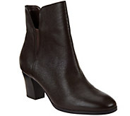 Isaac Mizrahi Live! Leather Booties with Goring - A271836