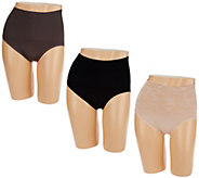 Breezies Set of 3 Seamless Control Brief Panties - A273436