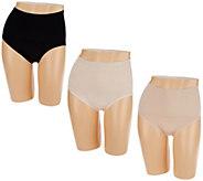 Breezies Set of 3 Seamless Control Brief Panties - A273436