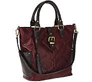 As Is Tignanello Glazed Vintage Embossed Leather Shopper - A275936