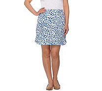 Susan Graver Weekend Printed French Terry Skort - A277836