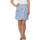 Susan Graver Weekend Printed French Terry A-Line Skort - A277836