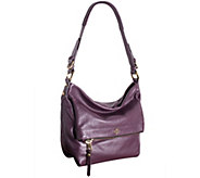 As Is orYANY Pebble Leather Hobo Bag - Abbey - A279036