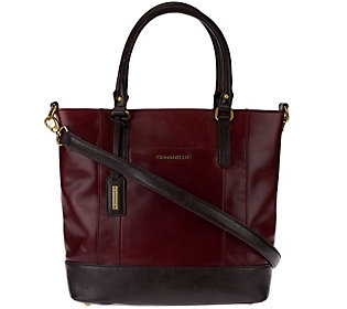 As Is Tignanello Glazed Vintage Leather Shopper Bag