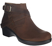 As Is Alegria Leather Ankle Boots w/ Strap Details - Eva - A280636