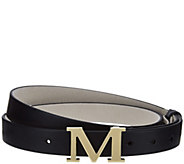 C. Wonder Initial Buckle Adjustable Leather Top Hip Belt - A281136