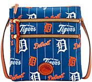 Dooney & Bourke MLB Nylon Tigers Triple Zip Crossbody - A281536