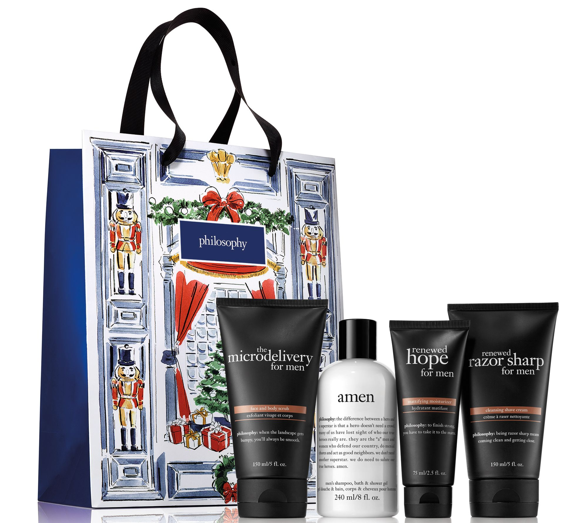 Philosophy for men piece holiday collection bag