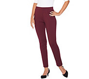 As Is Susan Graver Ponte Knit Pull-On Leggings with Seam Detail - A290036
