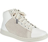ED Ellen DeGeneres Leather High Top Sneakers - Camarilo 2 - A291036