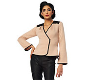 As Is Project Runway by Seth Aaron Wrap Jacket with Peplum Detail - A291236