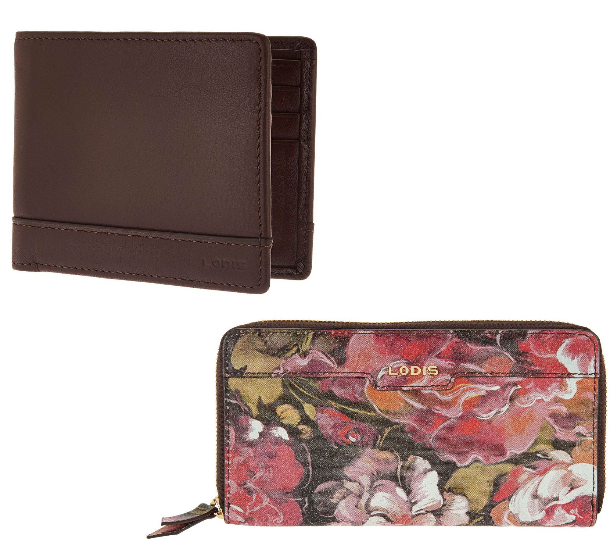 LODIS Women or Men's Italian Leather RFID Wallet — QVC.com