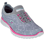 As Is Skechers Print Bungee Slip-On Sneakers - Mamba - A299536