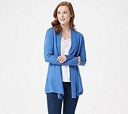 Susan Graver Rayon Nylon Cardigan with Button Detail - A300536