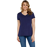 Isaac Mizrahi Live! Essentials Pima Cotton V-Neck T-Shirt - A307536
