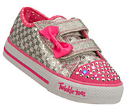 Skechers Girls Twinkle Toes Shuffles Sweet Steps Sneakers - A333136