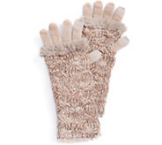 MUK LUKS Womens Cable 3-in-1 Gloves - A361336