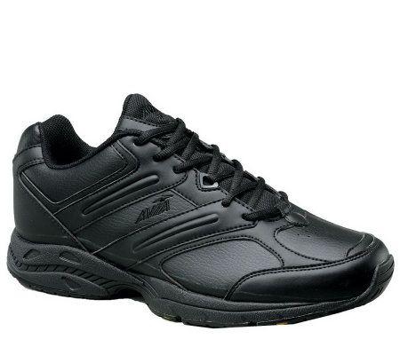avia s slip resistant walking shoe qvc
