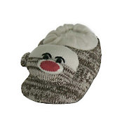 Childrens Sock Monkey Slippers - A207037
