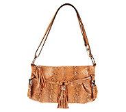 As Is B. Makowsky East/West Leather Crossbody Bag - A230037