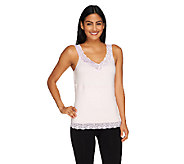 Carol Wior Reversible Lace Trim Cami with Midriff Control - A232237