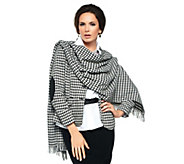 Joan Rivers Classic Houndstooth Wrap - A236037