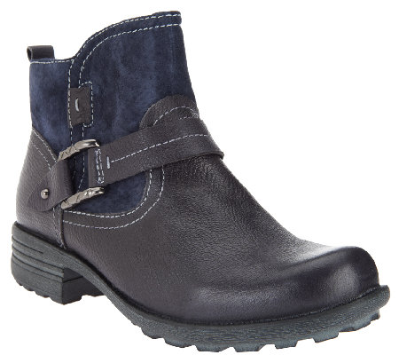 earth origins leather suede ankle boots qvc