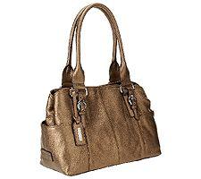 Tignanello Traveler Pebble Leather Shopper w/ Buckle Detail