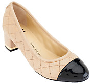 Isaac Mizrahi Live! Quilted Leather Pumps - A259437