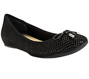As Is Isaac Mizrahi Live! Textured Leather Ballet Flats - A260437