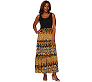 Women with Control Regular Printed Sleeveless Maxi Dress - A264337