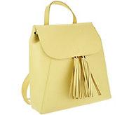 Isaac Mizrahi Live! Bridgehampton Leather Backpack - A264637