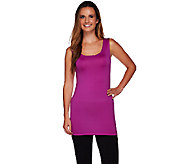 LOGO Lotus by Lori Goldstein Scoop Neck Tank with Straight Hem - A266537