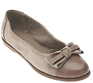 As Is Clarks Suede Flats with Bow - Greely Alder - A268937