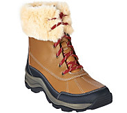 Clarks Leather Water Resistant Lace-up Outdoor Boots - Mazlyn Arctic - A270737