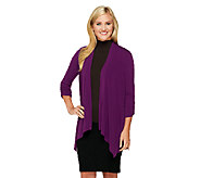 As Is George Simonton Crystal Knit Drape Front Cardigan - A275737