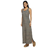 As Is Liz Claiborne New York Regular Striped Knit Maxi Dress - A277037