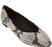 Vionic Orthotic Pointed Toe Snake Flats - Caballo - A279937