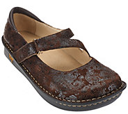 As Is Alegria Leather Mary Janes Wide Width - Jill - A280637