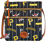 Dooney & Bourke MLB Nylon Pirates Triple Zip Crossbody - A281537