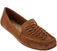 As Is Isaac Mizrahi Live! Leather or Suede Fisherman Mocassins - A283537