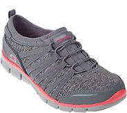 As Is Skechers Heathered Mesh Bungee Slip-on Sneakers - A283637