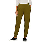 H by Halston Petite French Terry Jogger Pants w/ Seam Details - A286437