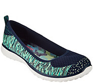 Skechers Microburst Flat Knit Skimmers - Perfect Note - A287037
