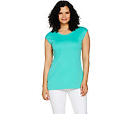Isaac Mizrahi Live! Essentials Pima Cotton Scoop Neck Tunic - A289637