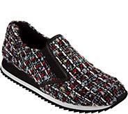 As Is LOGO by Lori Goldstein Novelty Tweed Slip-on Sneakers - A289937