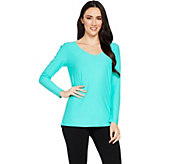 Attitudes by Renee Drape Back Crepe Jersey Knit Tunic - A290737